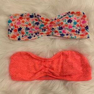 pink victoria's secret bandeau bra